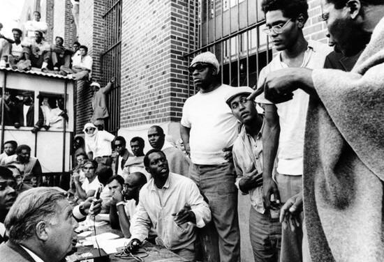 Inmates negotiating with authorities at Attica.