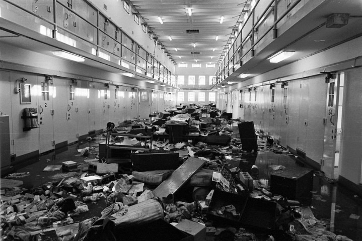 Aftermath of a prison riot